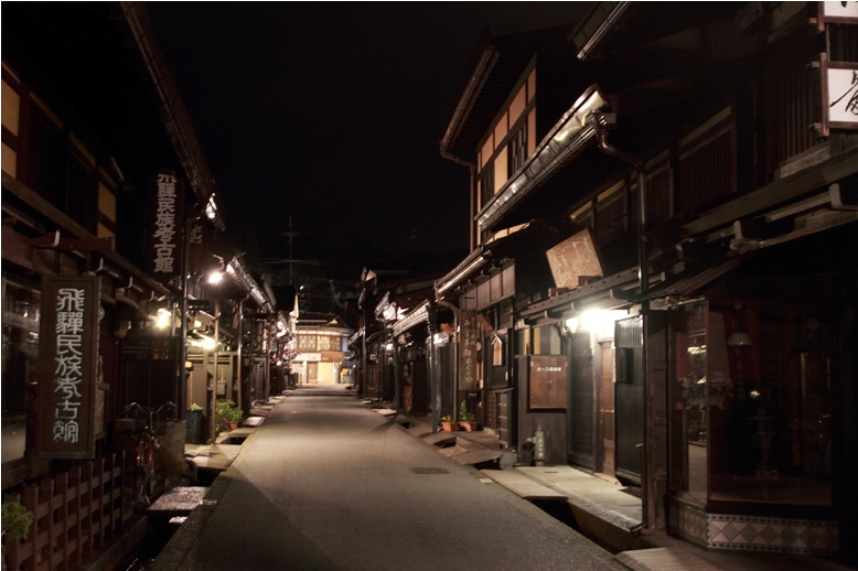 a night shot of the street... imagine with the ninjas hopping from roof to roof on the recce missions. it felt very deserted and was a very cold night.