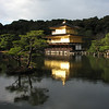 Kinkaku-ji is the golden shrine, we caught this with the rays piercing through the rain clouds